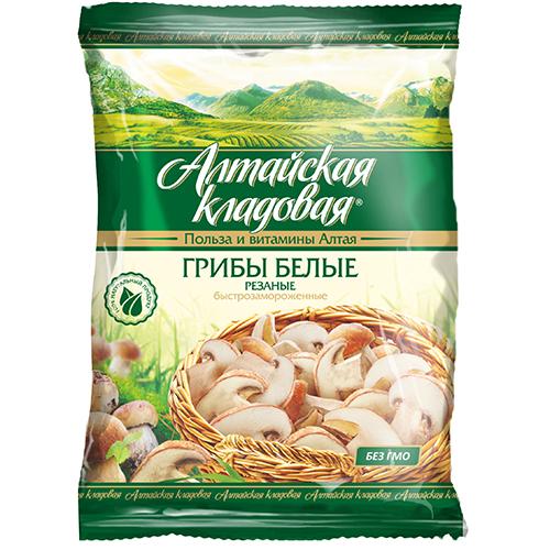 """Белые грибы  резаные """"Алтайская кладовая"""" 300 г."""