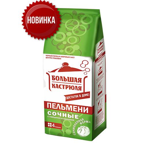 """Пельмени """"Большая кастрюля"""" сочные 800г"""
