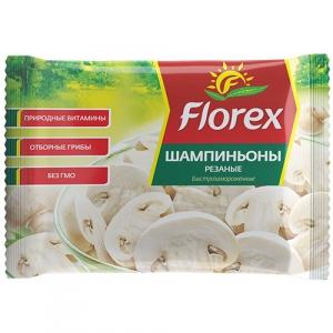 """Шампиньоны резанные """"Флорекс"""" 400 гр."""