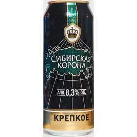 """Пиво """"Сибирская Корона"""" Крепкое 8,3% (ж/б. 0,5 л)"""