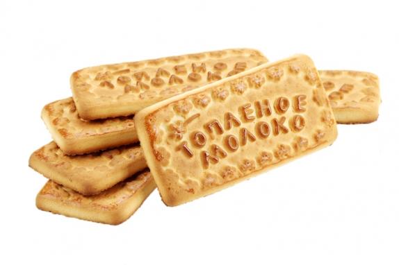 """Печенье сахарное """" Топлёное молоко """" 500 гр. (Томск) вес."""