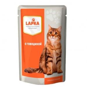 """Корм """"Лапка"""" для кошек в ассортименте 85 гр."""