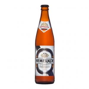 """Пиво """"Немецкое"""" светлое нефильтрованное (Бочкари) 4,7% с/б 0,5 л."""