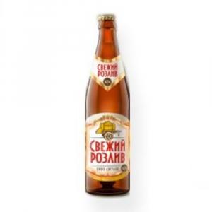 """Пиво светлое """"Свежий розлив"""" (Бочкари) 4,2% с/б 0,5 л."""
