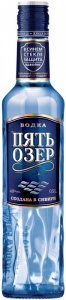 """Водка """"Пять озёр"""" 40% ООО """"Омсквинпром"""" (0,5 л)"""