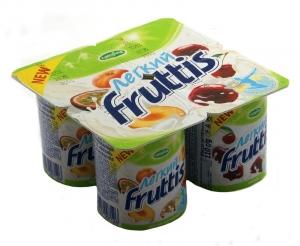 """Йогурт Fruttis 1,2% """"Нежный"""" в ассортименте 100 г."""