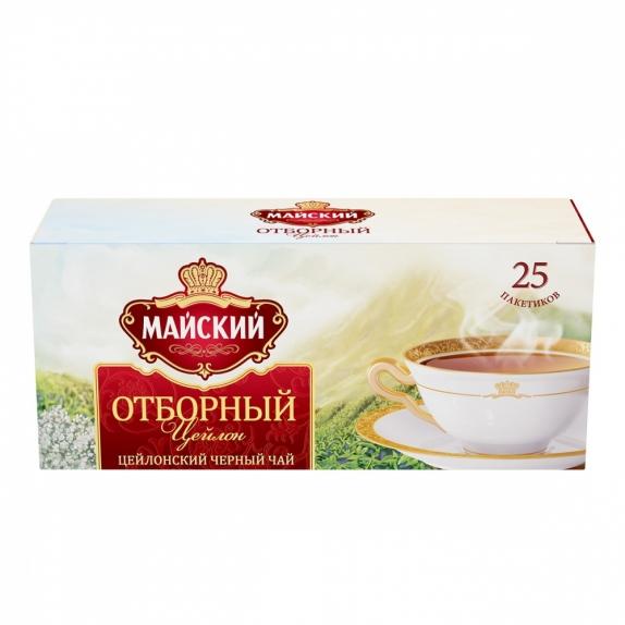 """Чай """"Майский"""" отборный чёрный в пакетиках 25 Х 1,8 г"""