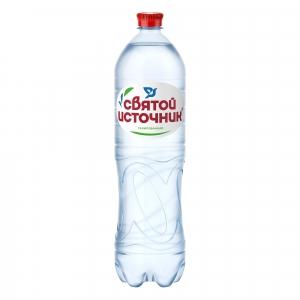 """Вода """"Святой источник"""" газированная 1,5 л."""