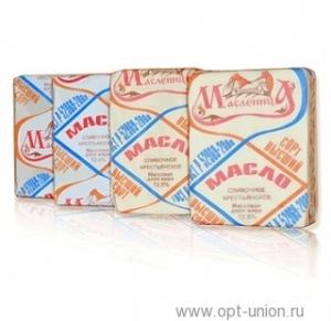"""Масло сливочное """"Крестьянское"""" (Масленица) 72,5%  180 гр."""