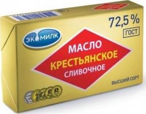 """Масло """"Крестьянское"""" 72,5% 180г (Экомилк)"""