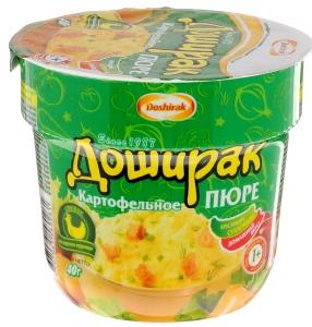 """Картофельное пюре """"Доширак"""" быстрого приготовления со вкусом курицы 40 г"""
