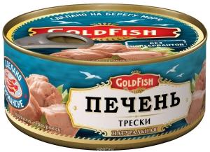 "Печень трески ""Голд Фиш"" 190г"