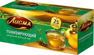 """Чай """"Лисма"""" тонизирующий зеленый 25 пак * 1,5 гр."""