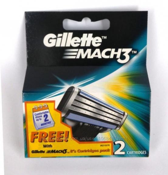 """Сменные кассеты """"Gillette Mach-3"""" Джилет 2 шт/уп"""