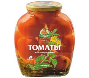 """Томаты """"Медведь Любимый"""" Премиум маринованные 1500 мл"""