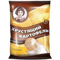 """Чипсы """"Хрустящий картофель в ломтиках"""" с солью 40 гр."""