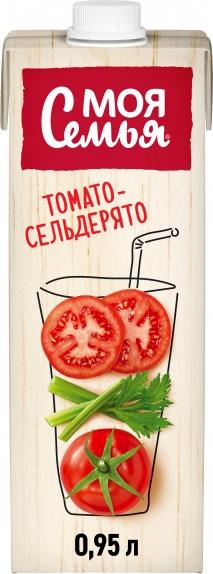 """Сок """"Моя Семья"""" томат-сельдерей 0,95 л."""