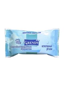 """Влажные салфетки """"Grendy"""" 15 шт."""