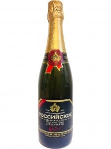 """Российское шампанское """"Дербентское"""" белое полусладкое 10,5-13% 0,75 л."""