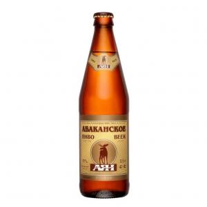 """Пиво """"Абаканское"""" Светлое 4% (бут. 0,5 л)"""