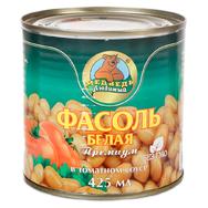"""Фасоль белая """"Медведь Любимый"""" премиум в томатном соусе 425 мл"""