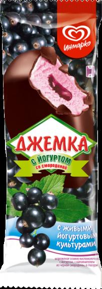 """Мороженое Инмарко """"Джемка"""" йогуртное с черной смородиной 80 мл."""