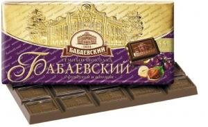 """Шоколад """"Бабаевский"""" с фундуком и изюмом 100 г"""