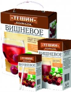 """Винный напиток фруктовый п/сл """"Тещин погребок"""" со вкусом вишни 10,5% 1 л."""