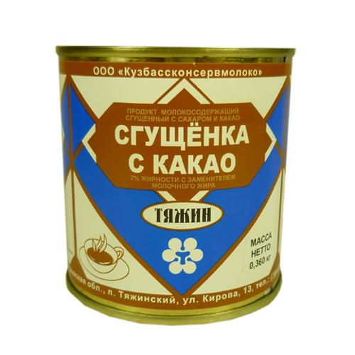 Сгущёнка с какао Тяжин 8,5% 360 г