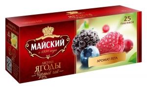 """Чай """"Майский"""" Лесные ягоды 25 шт*1,5 гр.Цейлон"""