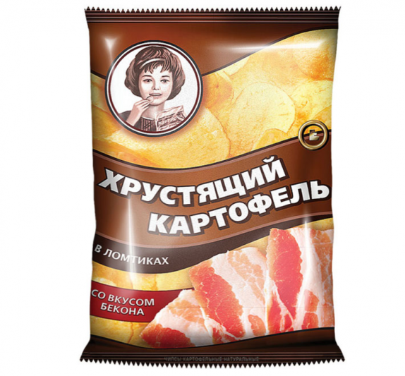 """Чипсы """"Хрустящий картофель в ломтиках"""" с беконом 40 гр."""