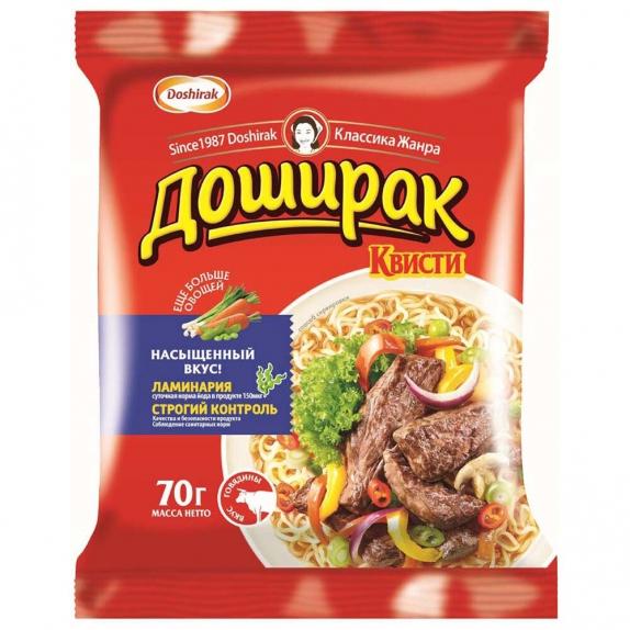 """Лапша """"Доширак квисти"""" быстрого приготовления со вкусом говядины 70 г"""