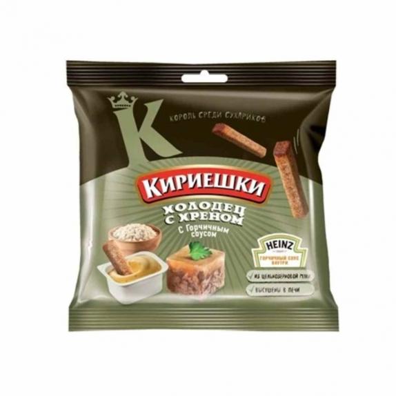 """Сухарики """"Кириешки"""" холодец/хрен с горчичным соусом 85 гр."""