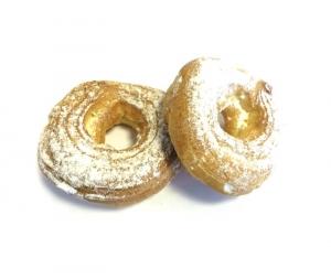 Пирожное заварное кольцо твор.нач/сливки (коробка) 500 гр.