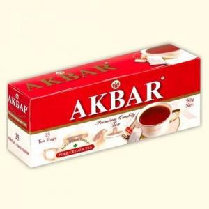 "Чай ""Akbar"" Красно-белая серия (пак 25*2г) с/я Цейлон мелк.лист"