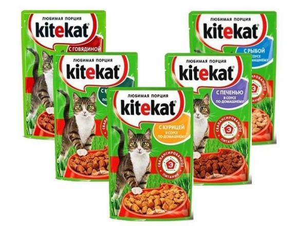 """Корм для кошек """"Китекет"""" в ассортименте 85 гр."""