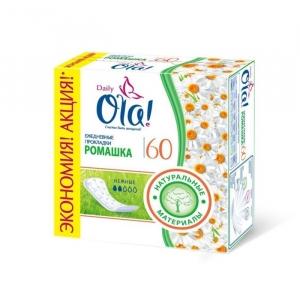 """Ежедневные прокладки """"Ola"""" ромашка 60шт."""