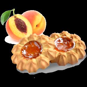 """Печенье сдобное """"Баба Маня """"с персиковой начинкой 500 гр."""