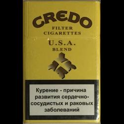 """Табачный набор сигареты с фильтром """"Кредо"""" (Credo) и спички"""