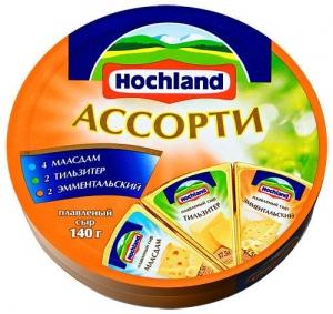 """Сыр плавленый """"Hochland""""  Ассорти сырная классика (Хохланд) 140 г"""