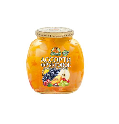 """Фруктовое ассорти """"Медведь Любимый"""" 580 мл."""
