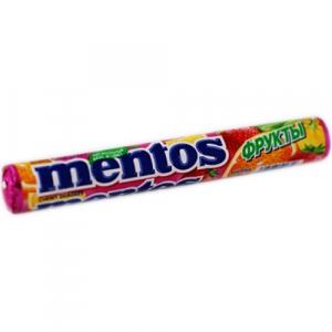 """Жевательные драже """"Mentos"""" фруктовый (Ментос) 37 г"""