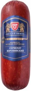 """Колбаса """"Сервелат Боровинский"""" в/к (Омский бекон) 400 гр."""