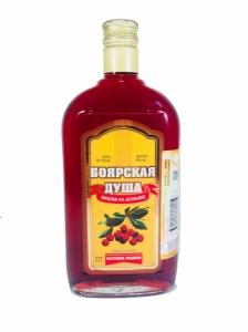 """Настойка сладкая """"Боярская душа вишня на коньяке"""" 20% фляжка 0,25л."""