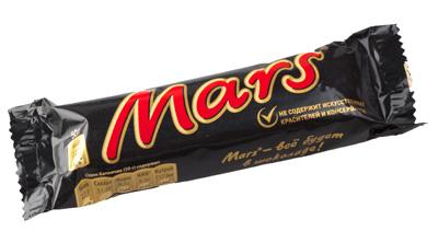 """Шоколадный батончик """"Марс"""" 50 г"""