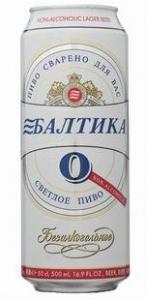 """Пиво """"Балтика"""" №0 безалкогольное (ж.б. 0,45 л)"""