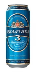 "Пиво ""Балтика"" №3 4,8% (ж.б. 0,45 л)"