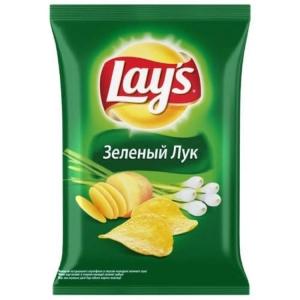 "Чипсы ""Лейс"" зеленый лук 150 гр."