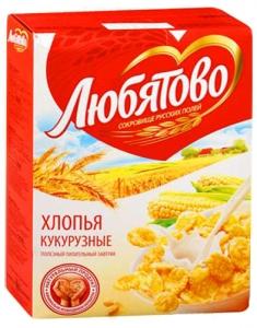 """Хлопья кукурузные """"Любятово"""" 250 г"""