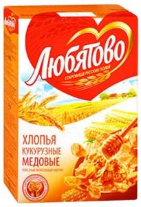 """Хлопья медовые """"Любятово"""" 250 г"""